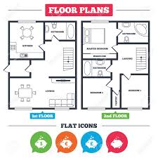 Architecture Plan With Furniture House Floor Plan Piggy Bank