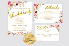 Wedding Invitation Templates With Photo Wedding Invitation Template Blush Rose Gold Invitation