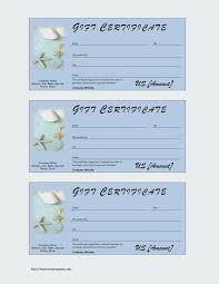gift certificate blank template printable