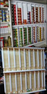 diy pantry organizing ideas rotating canned food system shelves easy organization for the kitchen