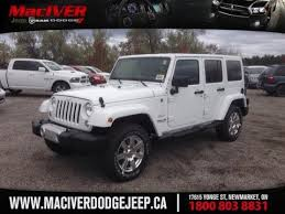 jeep wrangler 2015 white. 2015 white jeep wrangler unlimited sahara newmarket ontario maciver dodge