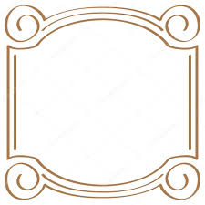 simple frame border design. Vector Square Simple Frame For Design \u2014 Stock Border