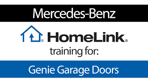 homelink training for genie garage door openers mercedes