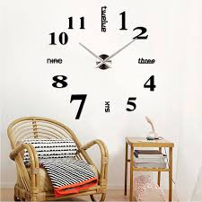 modern diy large wall clock 3d mirror surface sticker home decor art design on wall clock art design with factory price modern diy large wall clock 3d mirror surface sticker