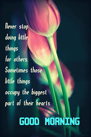 Good Morning Greetings Quotes Best of Good Morning Never Stop Doing Little Things For Others Gif