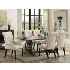 parkins rustic espresso 7 piece rectangular dining table set 107411