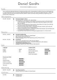 Resume Examples By Real People Mechanical Engineering Intern Resume