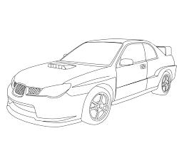 Subaru wrx sti coloring pages