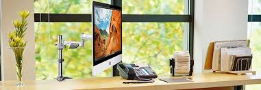 choose diffe style lcd monitor desk mount solution extend and retract your lcd tilt it up and down and rotate the screen from landscape to portrait
