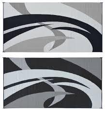 rug black and white. amazon.com: reversible mats 159181 black/white 9\u0027x18\u0027 swirl pattern mat: automotive rug black and white
