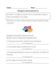 Englishlinx.com | Metaphors Worksheets