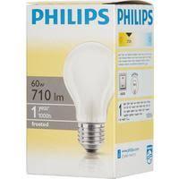 <b>Лампа накаливания Philips</b> 60 Вт E27 грушевидная матовая 2700 ...