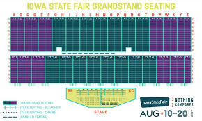 Grandstand Iowa State Fair Seating Chart Pin On Deals