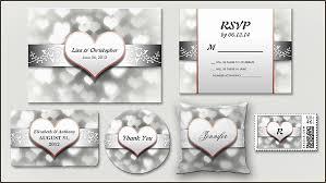 Read More Silver Love Hearts Wedding Invitation Wedding
