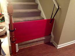Gate For Stairs Diy Bottom Of Stairs Baby Gate W One Side Banister Get A Piece