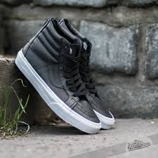 vans sk8 hi reissue zip premium leather black true white