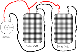 solarcell depending on your solar cell you have to connect two or more in series simply replace the motor in the above diagram an led
