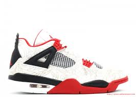 Jordan Chart Nike Air Jordan 4 Retro White Varsity Red Black Size Chart