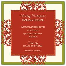 holiday invitations decorative square border corporate holiday invitations paperstyle