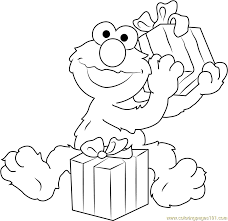 Small Picture Happy Birthday Elmo Coloring Page Free Sesame Street Coloring