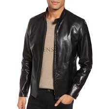 Designer Black Leather Jacket Designer Style Black Biker Leather Jacket