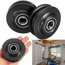 2Pcs POM Sliding Barn Door Wheel Closet Cabinet Window Hardware ...