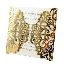 Invitations Quinceanera Us 22 0 Gold Wedding Invitations Quinceanera Party Supplies Laser Cut Gate Wedding Card Invitation In Cards Invitations From Home Garden On