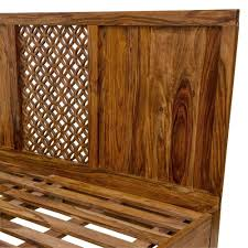 Sheesham Bedroom Furniture Solid Wood Sheesham King Queen Size Bed Camelias Collection By