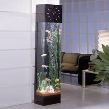view in gallery longcase clock featuring vertical aquarium