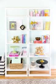 organized home office. 1. Practical And Pretty: Shelve Work Essentials (think: Folders, Files, Notebooks) With Fun Decorative Accents In A Setup That Feels Like Storage But Organized Home Office \