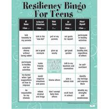 resiliency bingo game for teens classroom activities resiliency bingo game for teens