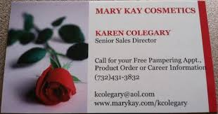 Karen Colegary Of Mary Kay Cosmetics Cosmetology Business Cards