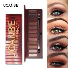 ucanbe brand molten rock heat eye shadow makeup palette shimmer matte brown red warm orange eyeshadow kits hot 3001230 how to apply eye makeup how