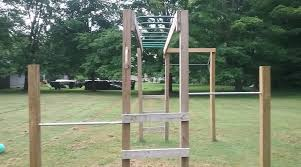 i bought 1 16 foot long pressure treated 4x4 and cut it in half because i didn t need the posts to be the full height of the monkey bars