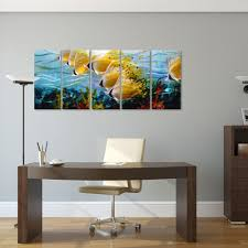 tropical fish metal wall art beautiful colorful metal 3d wall art embellishment wall painting ideas