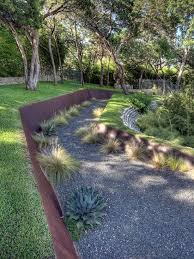 Backyard Retaining Wall Designs Stunning Steel Landscape On Steep Back Yard Nick Is An Engineer He Should
