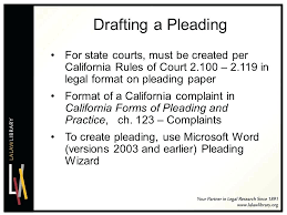 Pleadings Paper Calpleadings California Pleading Templates For Word Automation Paper