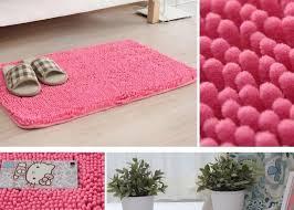 shower slip round runner fieldcrest custom bath rug washable small pale farmhouse floor curtains pink set