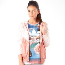 adidas windbreaker womens. adidas originals womens colorado windbreaker jacket blush pink/white i