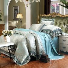 royal blue duvet cover luxury lace royal blue bedding set 4pcs king queen size