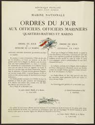 Ordres Du Jour Republique Francaise Liberte Egalite Fraternite Marine
