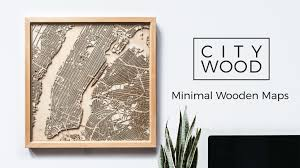 CityWood - Minimal 3D Laser Cut Wooden Maps by Indie Designers ...