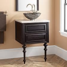 fania wallmount vessel sink vanity  dark cherry  bathroom