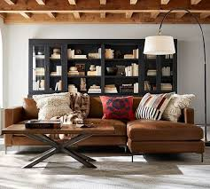 Jake Leather Left Arm Sofa With Chaise Sectional, Polyester Wrapped  Cushions, Vintage Caramel. Home Living RoomLiving Room IdeasLiving ...