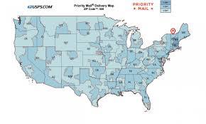Usps Zone Chart For Shipping Usps First Class Package Time Map Climatejourney Org