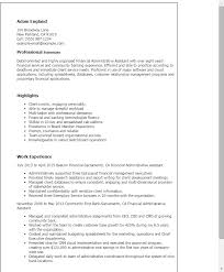 administrative assistant resume 1 financial administrative assistant resume templates try them now