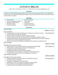 Office Manager Resume Template For Microsoft Word Livecareer