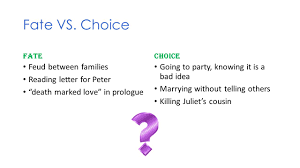 fate vs choice paper romeo and juliet today s 5 fate vs
