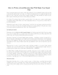 Writing Good Resume Examples Writing A Proper Resume Airexpresscarrier Com