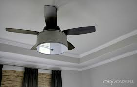 contemporary ceiling fan with drum light dark black decoration themes motive collection hanging